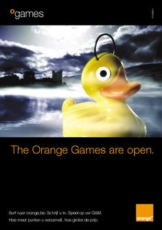 The Orange Games are Open. Introduction campaign for oGames (2001).