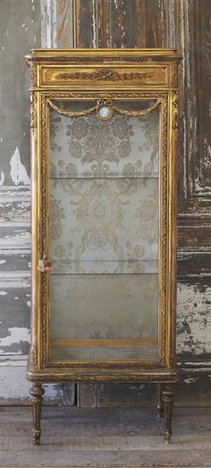 4d3174c0ca91d Antique Gilt Vitrine Cabinet in the Louis XVI Style from Full Bloom Cottage  ~ Perfect for ~ beautiful for