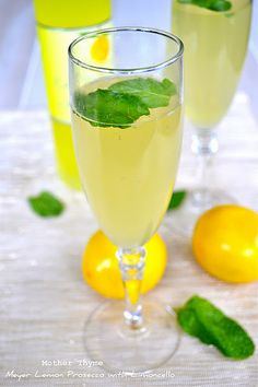Another NYE drink choice - Meyer Lemon Prosecco with Limoncello