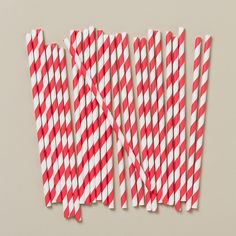 Old-Fashioned paper Soda Fountain straws at Terrain - available in several colors.