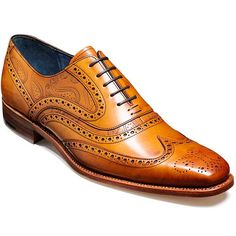 NEW!! Barker Shoes - McClean - Cedar Calf & Paisley Laser