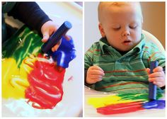 """Mess free """"finger painting"""""""