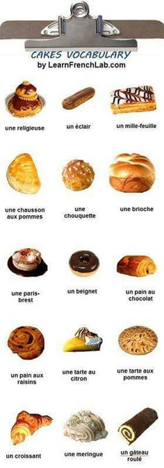 Confectionery types in French Language