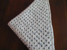 Receiving Blanket for Baby Boy - White, Green and Blue, Carseat Cover, Stroller Blanket, Christening, Baby Shower Gift, Security Blanket