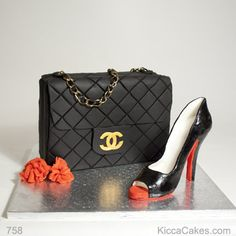 Novelty Cake for Woman Chanel Bag and Louboutin Shoe