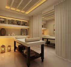 Modern and simple massage room and table – Massage Archive Spa Design, Spa Interior Design, Massage Room Decor, Spa Room Decor, Massage Table, Deco Spa, Spa Treatment Room, Reiki Room, Esthetician Room