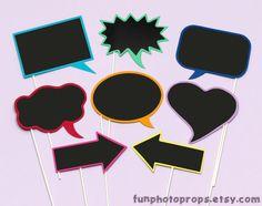 Photobooth Sprechblasen mit Tafelfolie