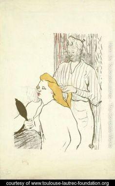 The Hairdresser - Henri de Toulouse-Lautrec - www.toulouse-lautrec-foundation.org