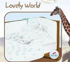 CEBA Pościel 3 elementowa LOVELY WORLD turkusowa