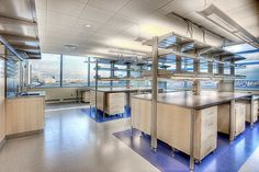OPEN LAB RECONFIGURABLE CASEWORK SYSTEMS AND OVERHEAD LAB SERVICES Corporate Office Design, Dental Office Design, Healthcare Design, School Design, Chemistry Lecture, Chemistry Labs, Lobby Interior, Interior Design, Design Design