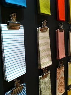 swatch display. >> @carly and @kelli if we EVER organize Mom's sewing room!