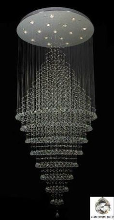 "Modern Contemporary Chandelier""Rain Drop"" Chandeliers H W (Over Tall!This Gallery Lighting that is ranked 1 Luxury Chandelier, Contemporary Chandelier, Chandelier Lighting, Modern Contemporary, Room Lights, Hanging Lights, Ceiling Lights, Ceiling Lamp, Antique Furniture"