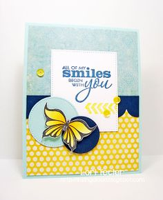 Card by Lori Tecler using Better Together and Blue Skies from Verve.  #vervestamps