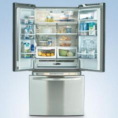 Kenmore®/MD 22 cu.ft. French Door Bottom Freezer Refrigerator - Stainless Steel Bottom Freezer Refrigerator, French Door Refrigerator, Kitchen Pantry, Kitchen Appliances, Kitchens, Canada Shopping, Stainless Steel Refrigerator, Apt Ideas, Samsung