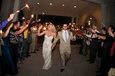 Sparkler Wedding Exit - The Palmetto Club | by Jerry McGaghey Photography from wedding blog MarryMeTampaBay.com