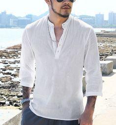 es.aliexpress.com store product men-Shirts-Mandarin-Collar-Cotton-Linen-Man-Shirt-Long-Sleeve-Summer-Style-Hawaiian-Shirts-military-Slim 1990063_32699052616.html?spm=2114.12010608.0.0.E9uHBZ