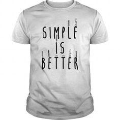 Simple is Better Tees Long Sleeve Hoodie