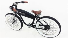 Vintage Inspired Electric Bikes by Vallkree Cycles Would be fun option while traveling if you don't want to tow a car. Electric Moped, Bike Rider, Bike Accessories, Bmx, Hot Rods, Vintage Inspired, Vehicles, Biking, Bicycles