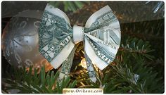 Pleasant Guidance Dollar Bill Bow Origami Instructions Dollar Bill Gift IdeasBack To 71 Taintless Advices Dollar Bill Bow Origami InstructionsDollar Bill Bow Origami Instructions. Origami Bow, Origami Gifts, Origami Easy, Origami Paper, Christmas Origami, Christmas Bows, Christmas Trees, Craft Gifts, Diy Gifts