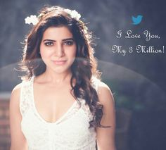 Samantha special love to Twitter followers