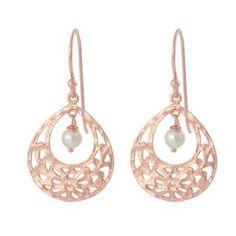 Nicole Fendel Rose Gold & Pearl Audrey Mini Earrings