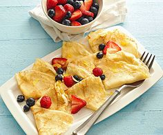 Fill these fluffy Lemon Crepes with sweet Mascarpone cheese and your favorite fresh fruit. More French recipes: http://www.bhg.com/recipes/desserts/other-desserts/french-desserts/?socsrc=bhgpin041513lemoncrepes=5
