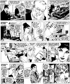 """La Machine."" The very first MODESTY BLAISE comic adventure (originally published in the Evening Standard 13/5/1963-21/9/1963) -- 11  Story by Peter O'Donnell, illustrated by Jim Holdaway"