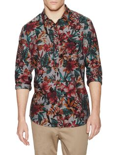Barney Cools Floral Cotton Sportshirt at Gilt saved by #ShoppingIS