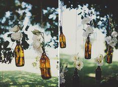 bottles + flowers = ♥