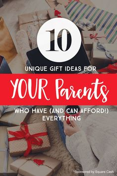 Unique gift ideas for YOUR parents who have everything *Loving this list of suggestions