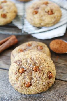 Pumpkin Cinnamon Cookies on twopeasandtheirpod.com The BEST pumpkin cookies you will ever eat! #pumpkin
