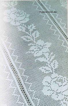 Colcha trabalhada em tiras de crochê filé! Trabalhada com linha Camila e agulha 1,5 mm, você pode adaptar a agulha e a linha que quiser. No...