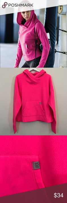 VSX Sport Pink Fleece Hoodie VSX Victoria's Secret sport fleece pink hoodie. So soft and comfy. Size large. Excellent condition and no flaws. Bust is 23.5 across laying flat and length is 21.5 in the front and 22.5 in the back. Open to offers and 30% off bundles! *M26 Victoria's Secret Tops Sweatshirts & Hoodies