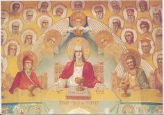 Draganescu church, frescoe by Father Arsenie Boca Catholic, Princess Zelda, Painting, Fictional Characters, Father, Google, Art, Craft Art, Roman Catholic