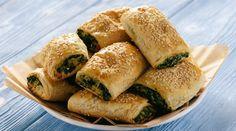 Pita Recipes, Greek Recipes, Spinach Pie, Recipe Today, Spanakopita, Ricotta, Bagel, Feta, Seeds
