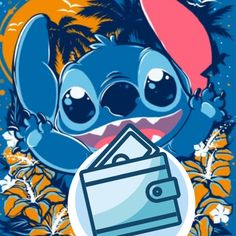 Cute Blue Wallpaper, Cute Disney Wallpaper, Cute Stitch, Lilo And Stitch, Blue Wallpapers, Pretty Wallpapers, Mickey Mouse Template, Disney Purse, Ios Icon