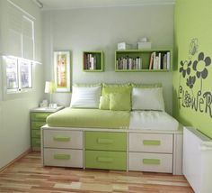 Love the storage solution to a small room