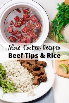 stew || stew recipes || crockpot stew || beef receipes || beef dishes || slow cooking recipes || crock pot || slow cooker || slow cooker meals || slow cooker dinners || beef and || beef recipies #beeftips #beefandrice #stewmeat Healthy Slow Cooker, Crock Pot Slow Cooker, Slow Cooker Recipes, Crockpot, Cooking Recipes, Beef Tips And Rice, Slow Cooked Beef, Dinners, Meals