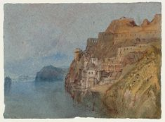 The Folies-Siffait from the East I I Joseph Mallord William Turner Joseph Mallord William Turner, List Of Paintings, Oil Paintings, St Florent, Art Romantique, Turner Watercolors, Turner Painting, Loire Valley, Watercolor Landscape Paintings