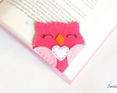Felt jigsaw puzzle bookmark original corner bookmark di Lanatema