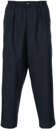 Marni herringbone drop-crotch trousers