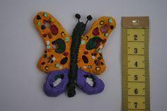 Mariposa simple: referencia de tamaño