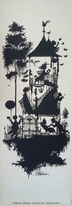 """1960s Bjørn Wiinblad """"Spring"""" - Original Vintage Poster"""