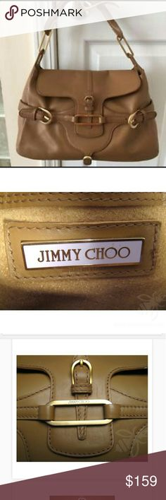 Jimmy Choo Tulita in tan This 100% authentic satchel will add an elegant and polished finish to your look. I've owned a few Tulita bags in different sizes.  By far,  this is my favorite -  due to its size and color - so versatile. It does have some signs of wear on the corners but no stains,  rips,  holes,  etc.  Interior is also in good condition,  gorgeous suede.  Originally retailed for over $1200, so this is a great piece for an amazing price. Such a smart buy. Jimmy Choo Bags Satchels