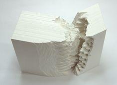 "Noriko Ambe, Japan, ""A Piece of Flat Globe Vol.30"", 2012, Cut on Yupo (syntetic paper), glue, 15 x 12 x 8 cm + 15 x 5 x 8 cm (vrstvenie)"