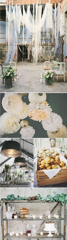 Bodas urbanas – un look industrial con encanto - Tap the link to shop on our official online store! You can also join our affiliate and/or rewards programs for FREE! Chic Wedding, Wedding Styles, Rustic Wedding, Our Wedding, Summer Wedding, Dream Wedding, Industrial Wedding, Industrial Chic, Industrial Shelving
