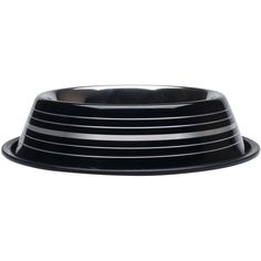 Fashion Steel Bowl Black W/Stripes 32oz-