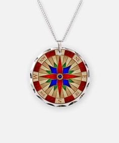 Compass_Rose_10x10_apparel Necklace for