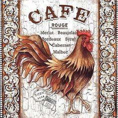 Chicken Signs, Chicken Art, Rooster Art, Rooster Decor, Vintage Prints, Vintage Posters, Vintage Images, Arte Do Galo, Collages D'images