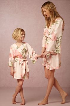 Painted Petal Flower Girl Robe from @BHLDN